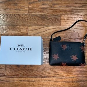 Coach leather star canyon wristlet